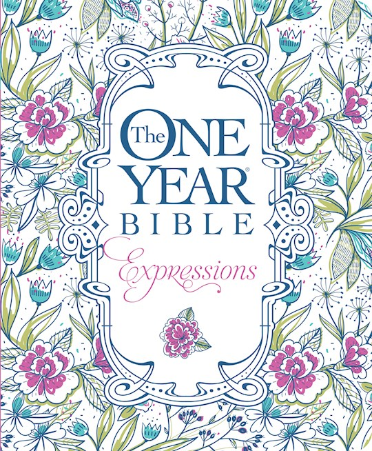 NLT One Year Creative Expressions Bible-Deluxe Floral Softcover  | SHOPtheWORD