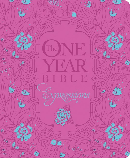 NLT One Year Chronological Bible Creative Expressions-Deluxe Fuchsia Hardcover | SHOPtheWORD