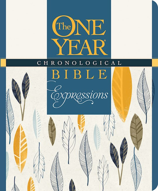 NLT One Year Chronological Bible Creative Expressions-Deluxe Blue Hardcover | SHOPtheWORD