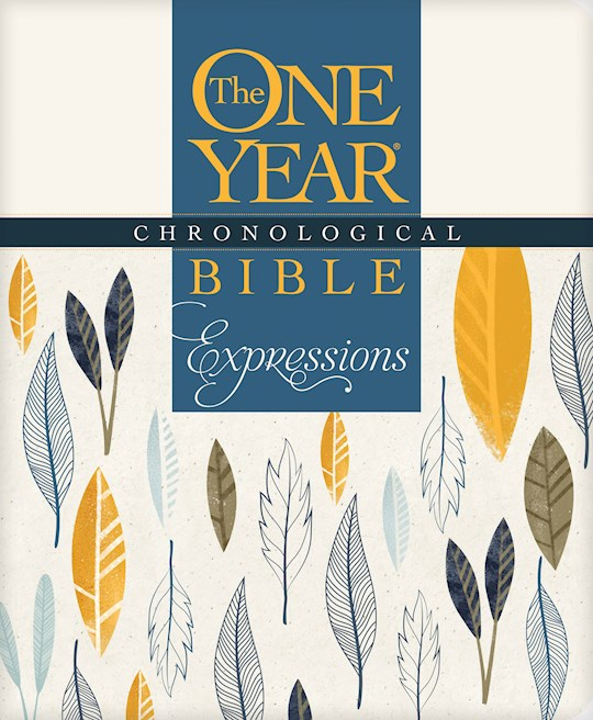 NLT One Year Chronological Bible Creative Expressions-Deluxe Leaves Softcover   SHOPtheWORD