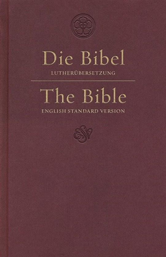 ESV German/English Parallel Bible-Dark Red Hardcover  | SHOPtheWORD