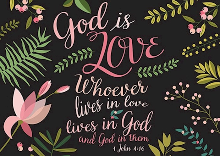 Postcard-God Is Love (6 x 4.25) (Pack Of 6) | SHOPtheWORD