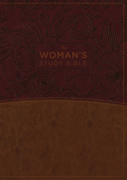 NKJV Woman'S Study Bible (Full Color)-Brown/Burgundy Leathersoft Indexed | SHOPtheWORD