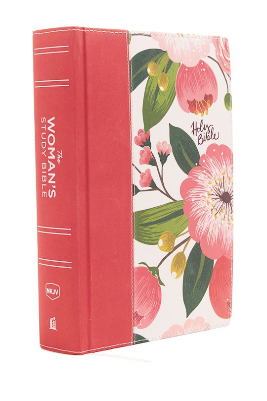 NKJV Woman's Study Bible (Full Color)-Black/Burgundy Floral Hardcover | SHOPtheWORD