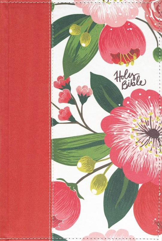 NKJV Woman'S Study Bible (Full Color)-Black/Burgundy Floral Hardcover Indexed | SHOPtheWORD