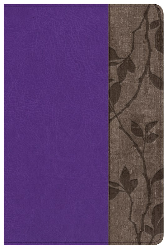 NKJV Holman Study Bible/Personal Size (Full Color)-Purple LeatherTouch Indexed | SHOPtheWORD
