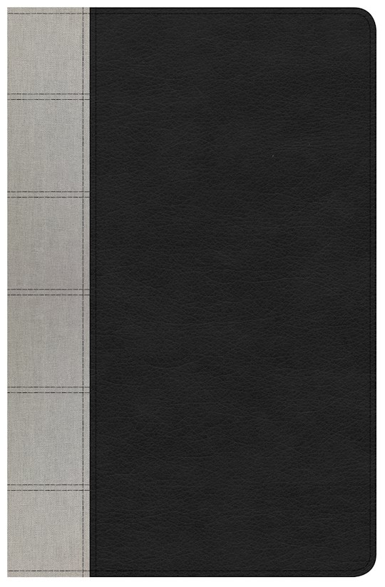 KJV Large Print Personal Size Reference Bible-Black/Gray Deluxe LeatherTouch | SHOPtheWORD