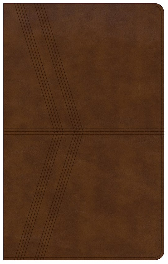 KJV Ultrathin Reference Bible-Brown Deluxe LeatherTouch Indexed | SHOPtheWORD