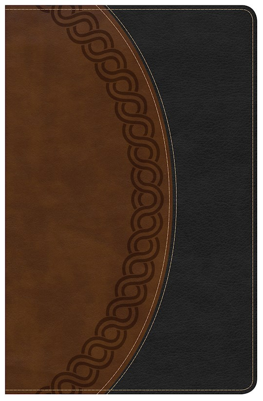 NKJV Large Print Personal Size Reference Bible-Black/Brown Deluxe LeatherTouch | SHOPtheWORD