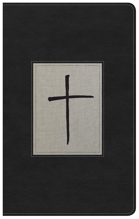NKJV Ultrathin Reference Bible-Black/Gray Deluxe LeatherTouch   SHOPtheWORD