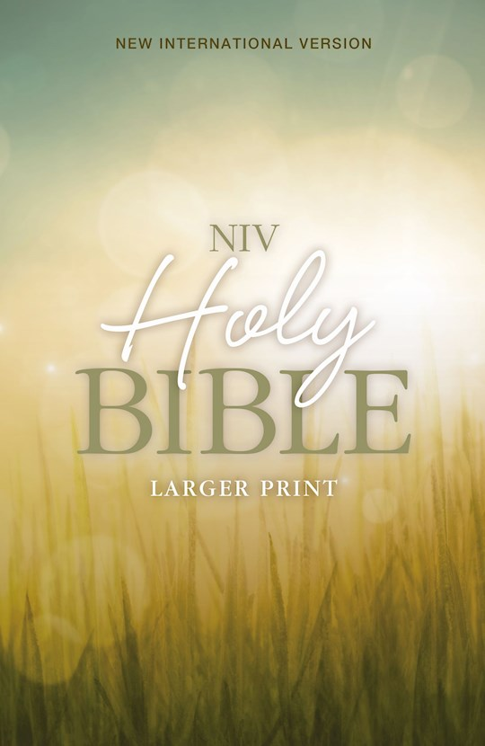 NIV Larger Print Bible-Nature Softcover | SHOPtheWORD