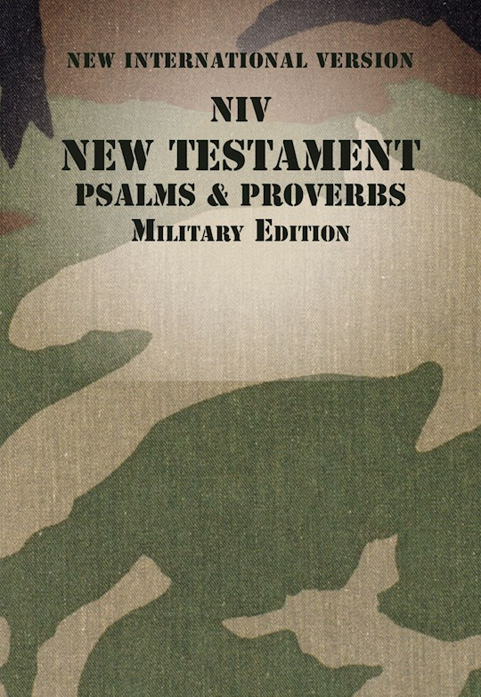 NIV New Testament With Psalms & Proverbs (Military Edition)-Woodland Camo Softcover  | SHOPtheWORD