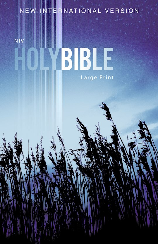 NIV Outreach Bible/Large Print-Blue Wheat Softcover | SHOPtheWORD
