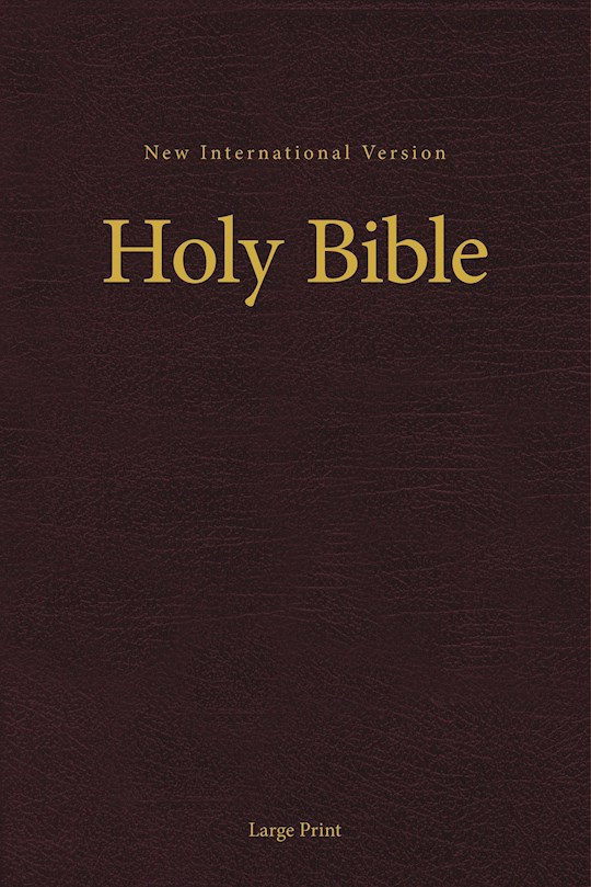 NIV Pew And Worship Bible/Large Print-Burgundy Hardcover | SHOPtheWORD