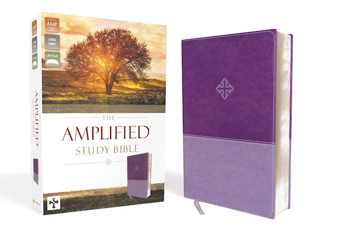 Amplified Study Bible (Revised)-Purple LeatherSoft | SHOPtheWORD
