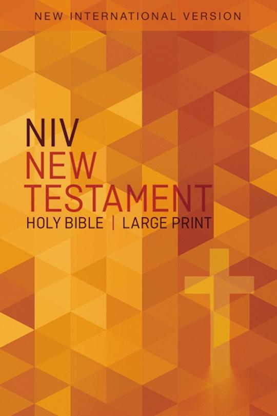 NIV Outreach New Testament/Large Print-Orange Cross-Softcover   SHOPtheWORD