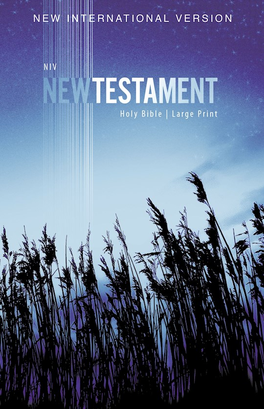 NIV Outreach New Testament/Large Print-Blue Wheat Softcover | SHOPtheWORD