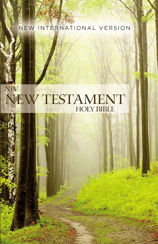 NIV Outreach New Testament-Green Forest Path Softcover | SHOPtheWORD