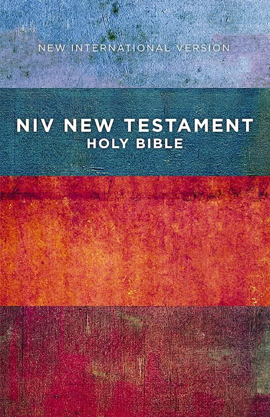 NIV Outreach New Testament-Red/Blue Stripes Softcover | SHOPtheWORD