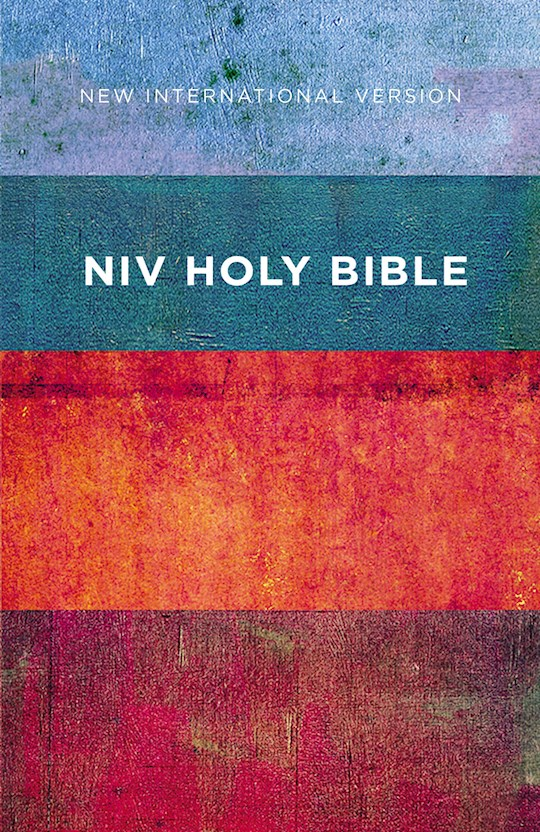 NIV Value Outreach Bible-Red/Blue Stripes Softcover | SHOPtheWORD