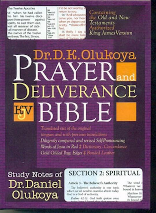 KJV Olukoya Prayer And Deliverance Bible Compact Black   SHOPtheWORD