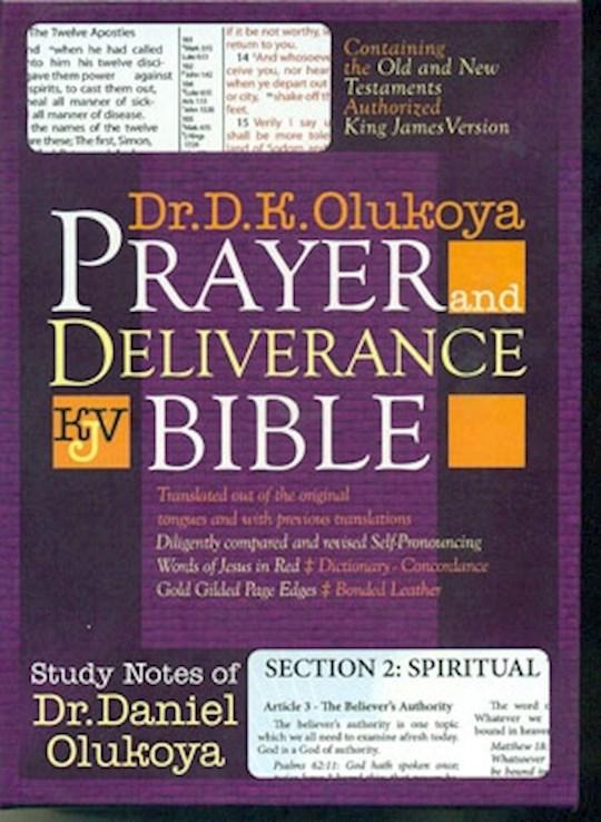 KJV Olukoya Prayer And Deliverance Bible Black Giant Print | SHOPtheWORD