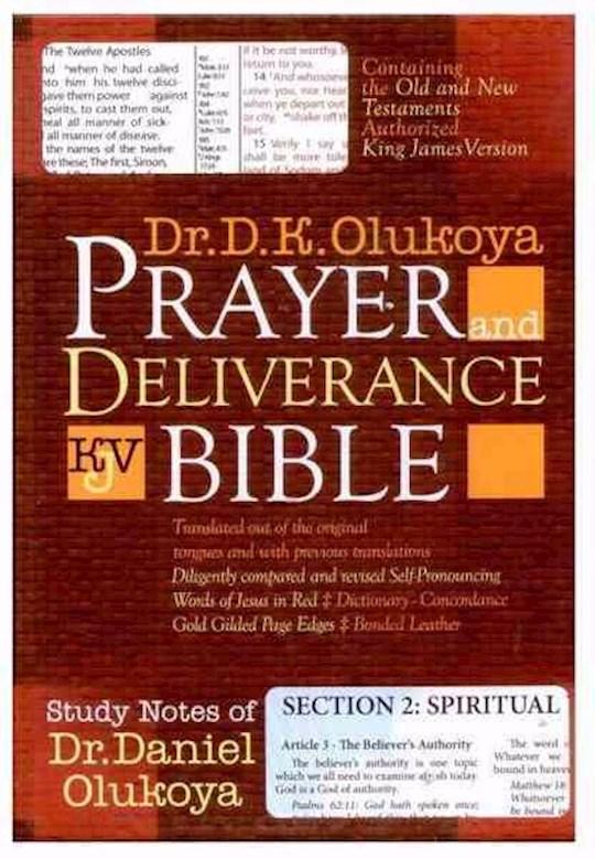 KJV Olukoya Prayer And Deliverance Bible Burgundy Indexed Giant Print | SHOPtheWORD