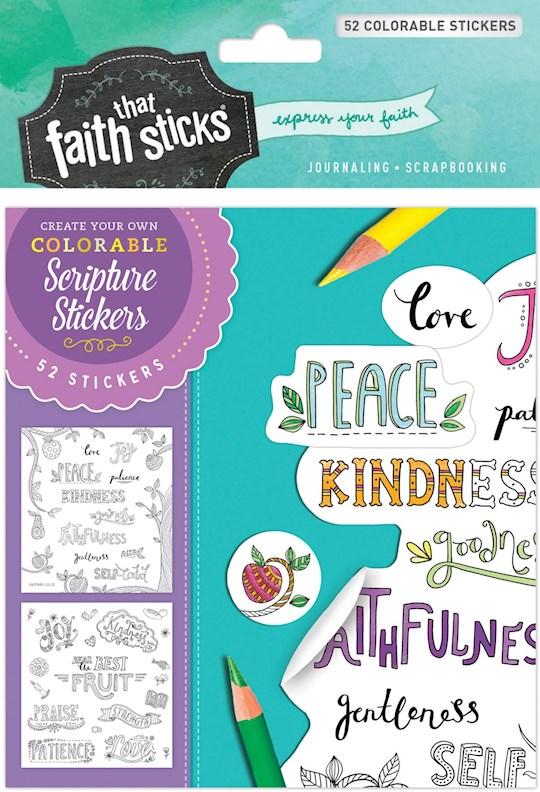 Sticker-Galatians 5:22-23 Colorable Stickers (Faith That Sticks) | SHOPtheWORD