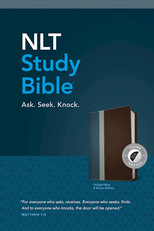NLT Study Bible-Twilight Blue/Brown TuTone Indexed | SHOPtheWORD