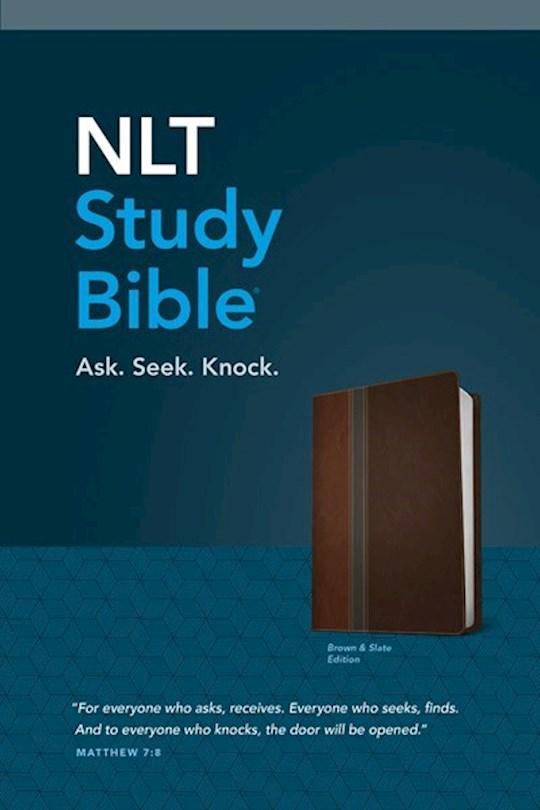 NLT Study Bible-Brown/Slate TuTone | SHOPtheWORD