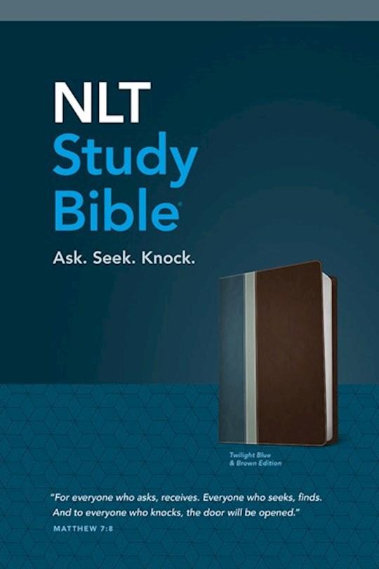 NLT Study Bible-Twilight Blue/Brown TuTone | SHOPtheWORD