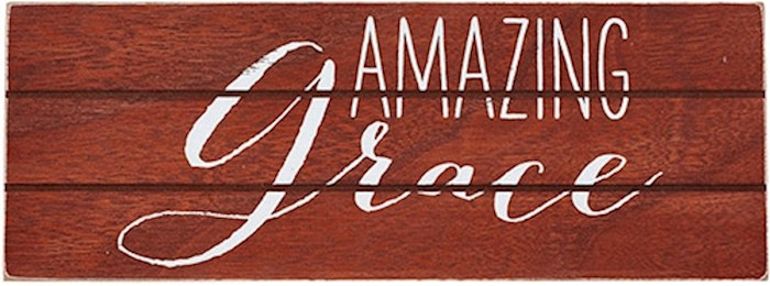Plaque-Amazing Grace/Rustic Treasures (Wall Or Table) (8.5 x 3.25) | SHOPtheWORD