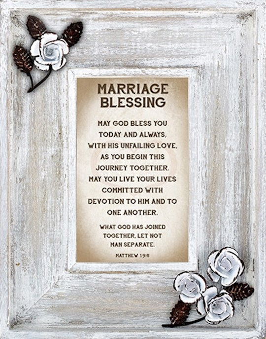 "Framed Art-Marriage Blessing/Lovelea Down Home (7"" x 9"") 