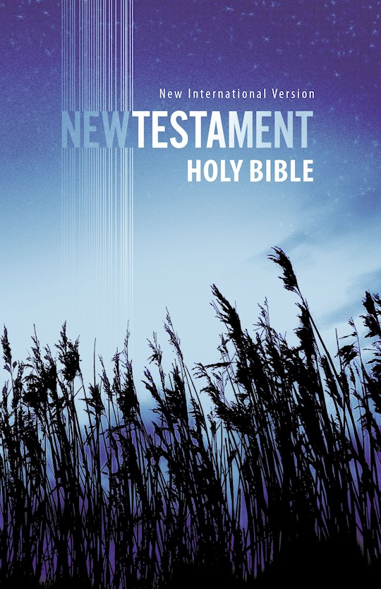 NIV Outreach New Testament-Blue Wheat Softcover | SHOPtheWORD