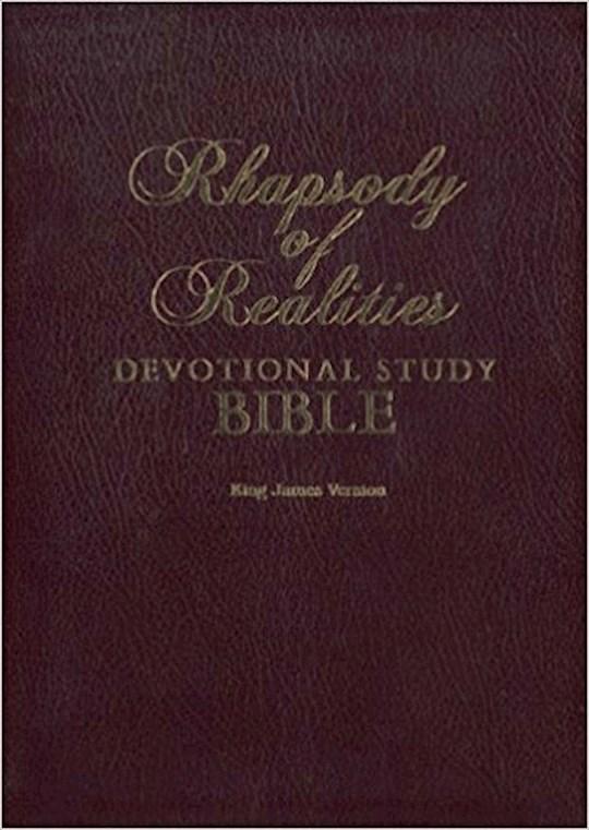 KJV Rhapsody Of Realities Devotional Study-Brown Bonded Leather | SHOPtheWORD