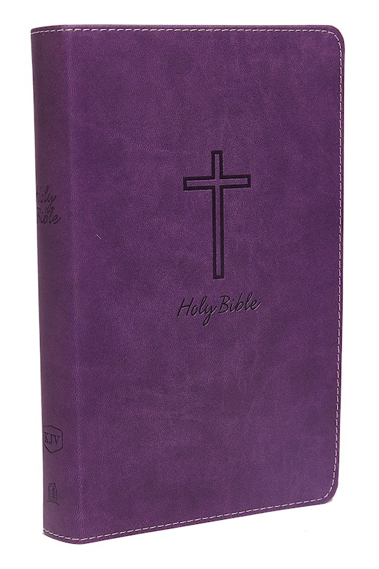 KJV Deluxe Gift Bible (Comfort Print)-Purple Leathersoft | SHOPtheWORD
