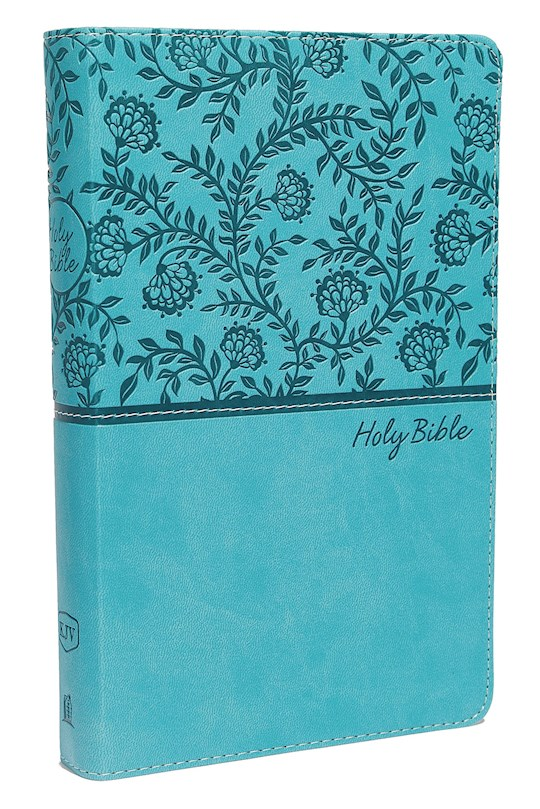 KJV Deluxe Gift Bible (Comfort Print)-Turquoise Leathersoft | SHOPtheWORD