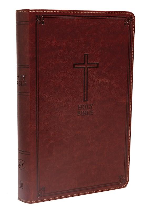 KJV Deluxe Gift Bible (Comfort Print)-Rich Auburn Leathersoft | SHOPtheWORD