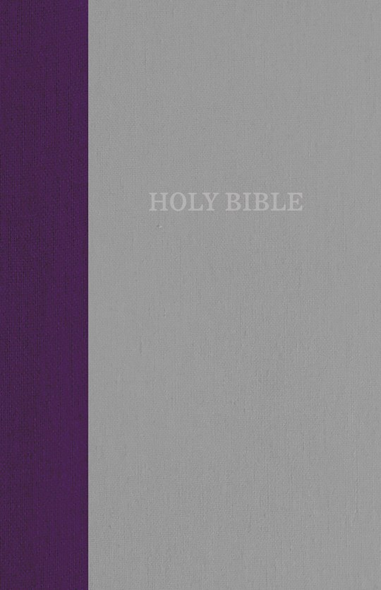 KJV Thinline Bible (Comfort Print)-Purple/Gray Cloth Over Board   SHOPtheWORD