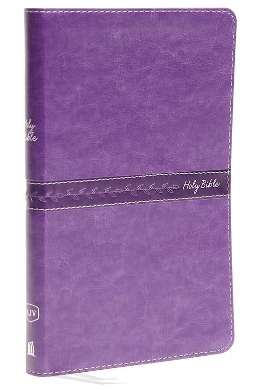 KJV Thinline Bible (Comfort Print)-Royal Purple Leathersoft | SHOPtheWORD