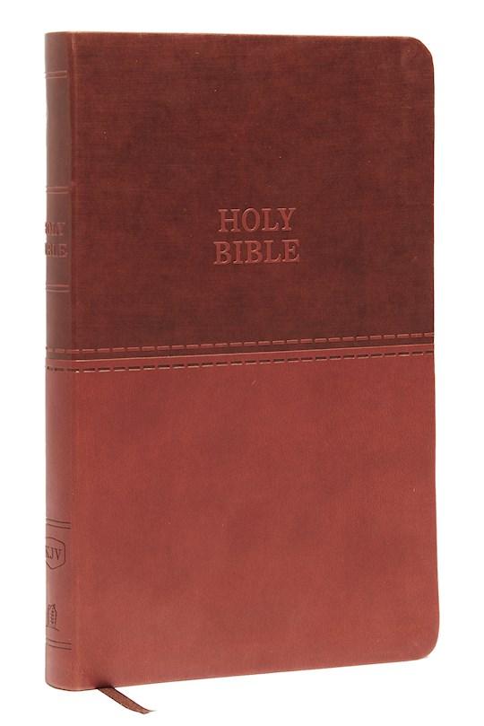 KJV Value Thinline Bible (Comfort Print)-Brown Leathersoft | SHOPtheWORD