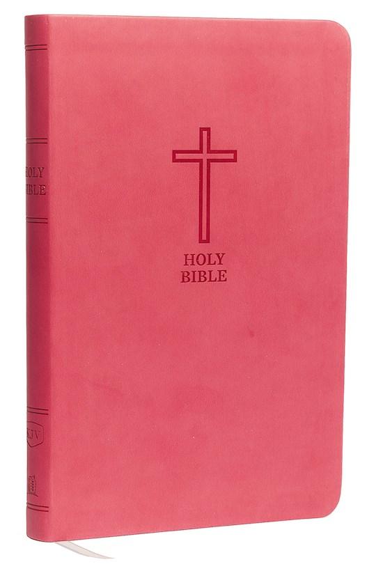 KJV Value Thinline Bible (Comfort Print)-Pink Leathersoft   SHOPtheWORD