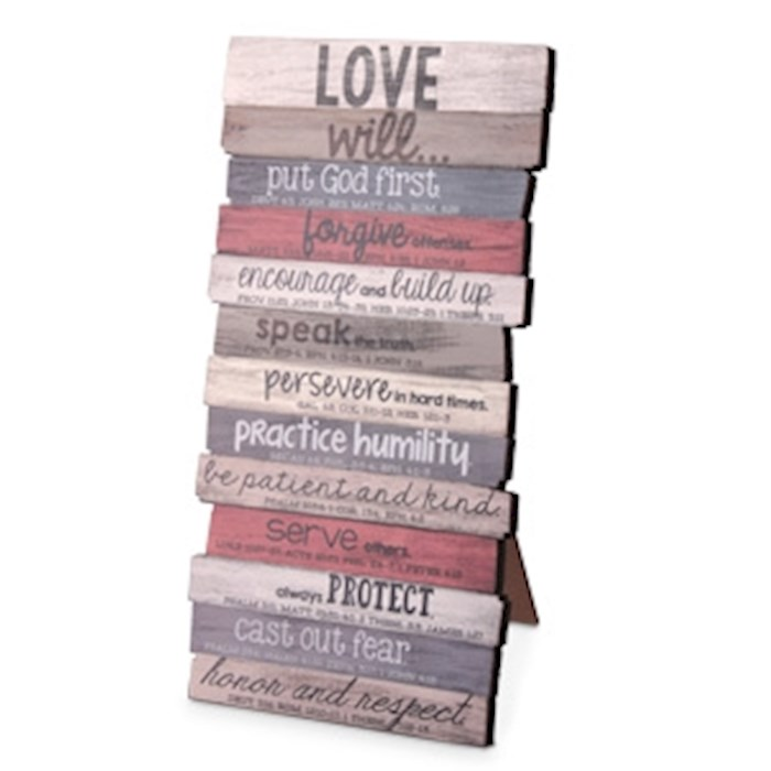 Wall Plaque-Love (10 x 5)-MDF Wood (#45028) | SHOPtheWORD