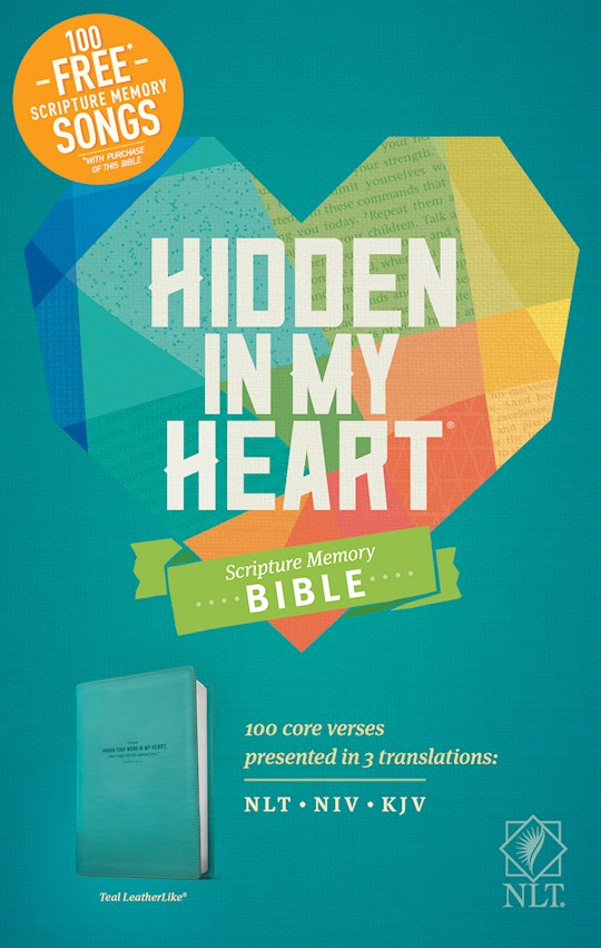 NLT Hidden In My Heart Scripture Memory Bible-Teal LeatherLike (Not Available-Out Of Print) | SHOPtheWORD
