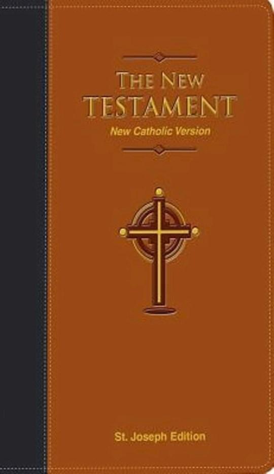 New Catholic Version St. Joseph Edition Pocket Size New Testament-Brown Dura-Lux Imitation Leather | SHOPtheWORD