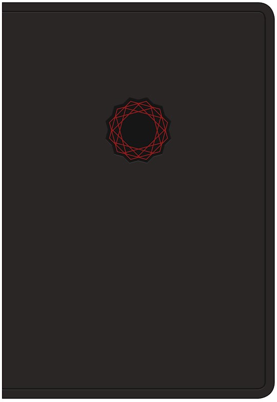 NKJV Deluxe Gift Bible-Black/Red LeatherTouch | SHOPtheWORD
