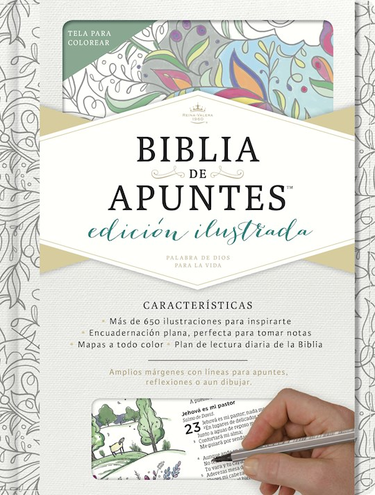 Span-RVR 1960 Notetaking Bible (Biblia de Apunte)-White Make Your Own & Cloth Over Board | SHOPtheWORD