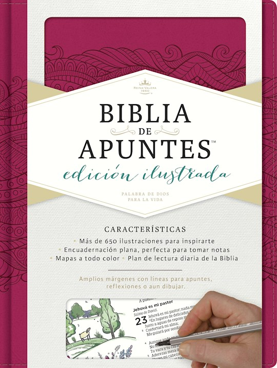 Span-RVR 1960 Notetaking Bible (Biblia de Apunte)-Pink LeatherTouch | SHOPtheWORD