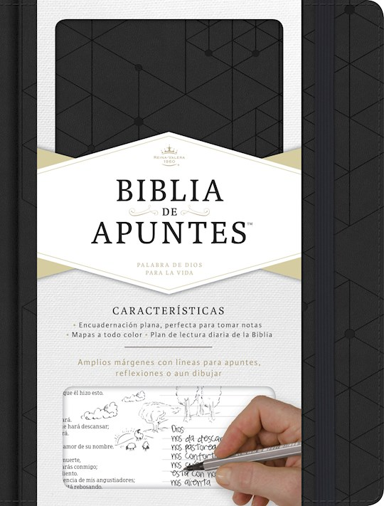 Span-RVR 1960 Notetaking Bible (Biblia de Apunte)-Black LeatherTouch | SHOPtheWORD
