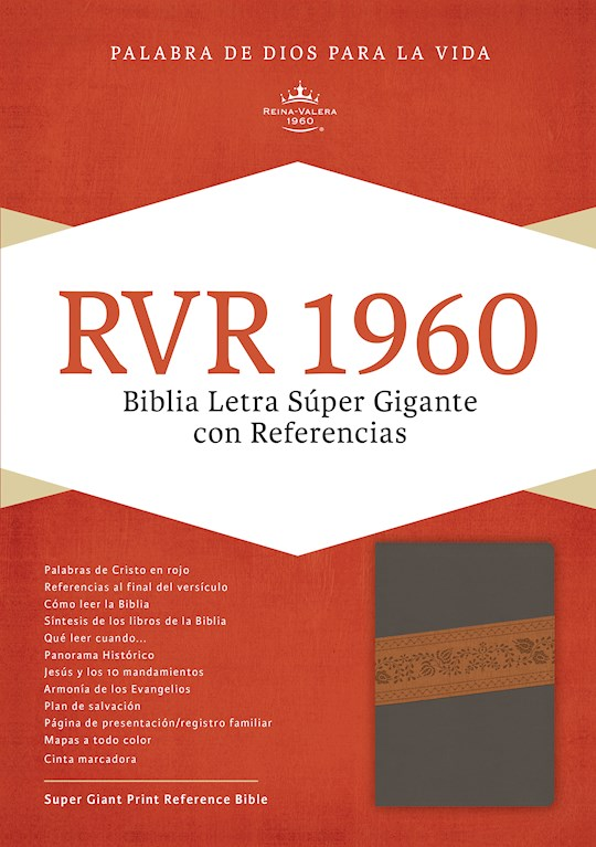 Span-RVR 1960 Super Giant Print Reference Bible-Gray Bonded Leather Indexed | SHOPtheWORD